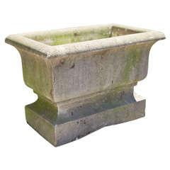 Large French Rectangular Cast Stone Jardiniere