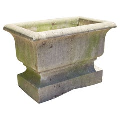 Large French Rectangular Cast Stone Jardiniere