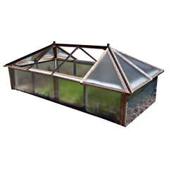 Antique Conservatory Top Converted to Working Coldframe