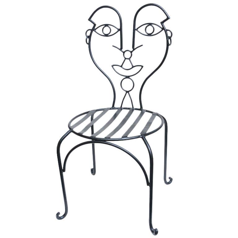 John Risley vintage garden chair