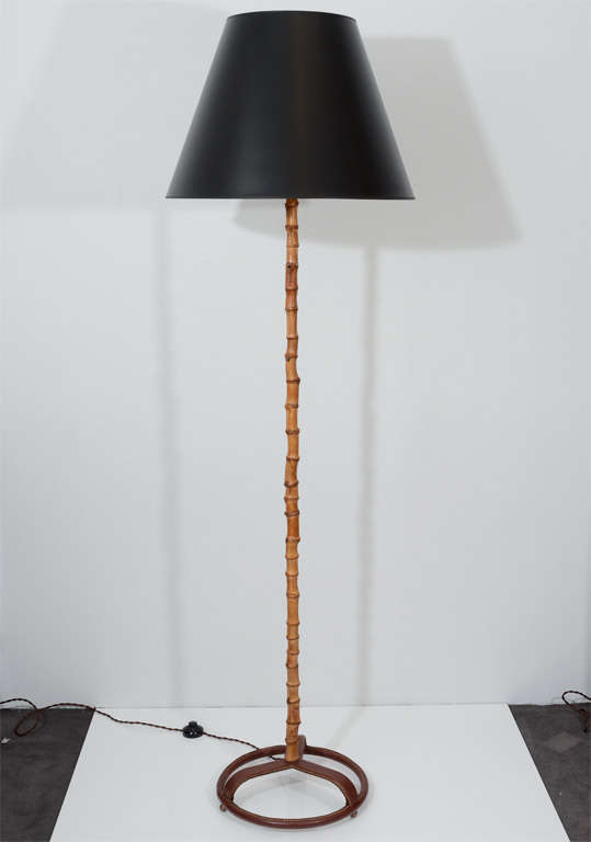 Rare Bamboo Floor Lamp By Jacques Adnet At 1stdibs