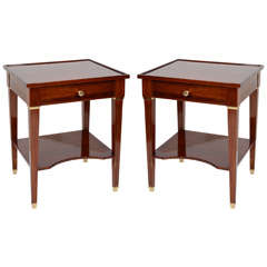 Pair of Mahogany Side Tables