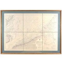 Dover to Calais, Antique Nautical Map