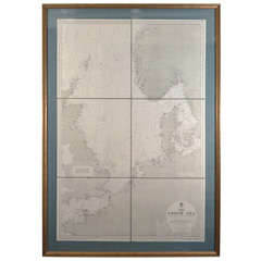 The North Sea, Antique Nautical Map