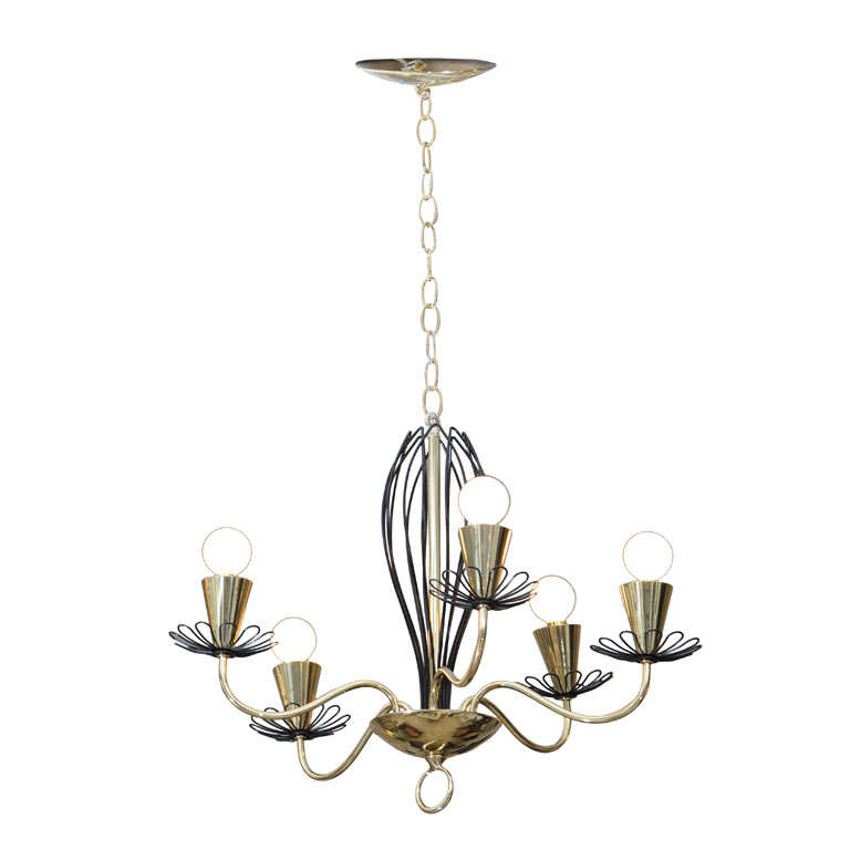 Whimsical 50's Chandelier By Lightolier At 1stdibs