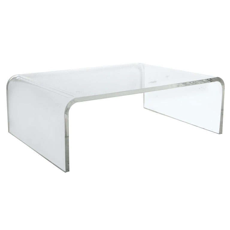 lucite waterfall coffee table at 1stdibs