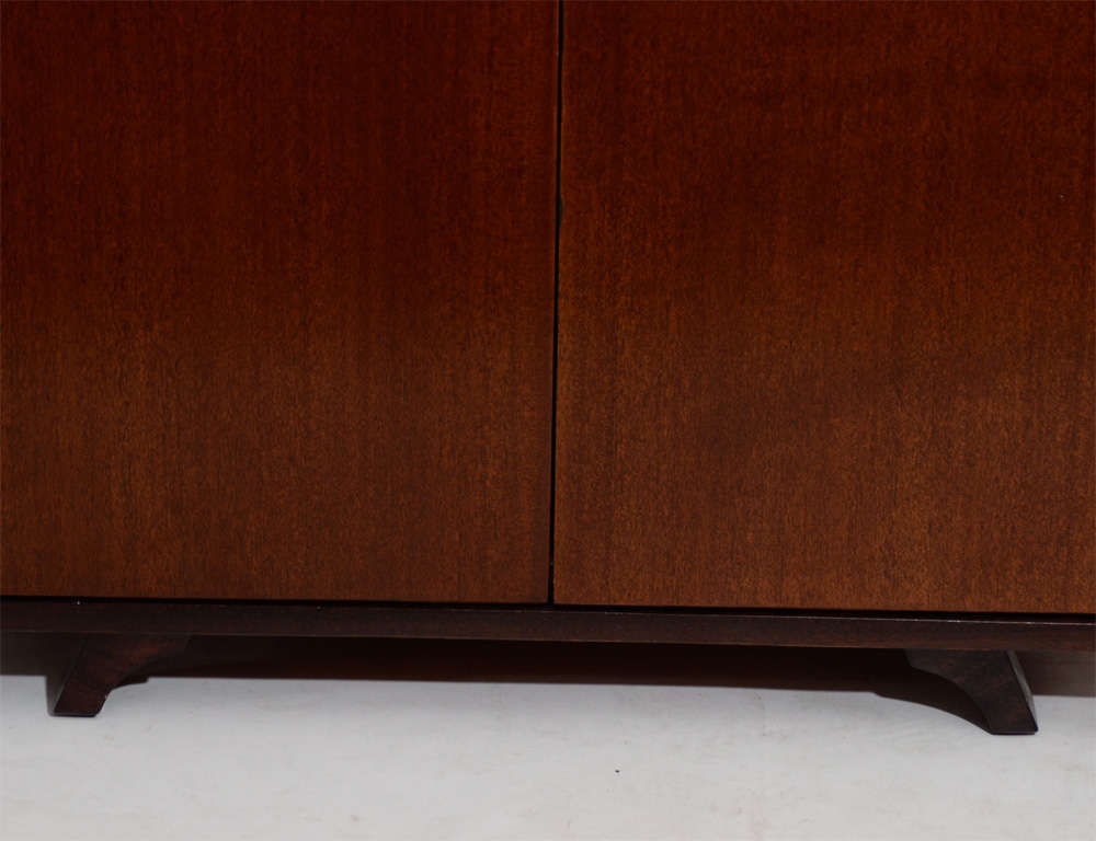 Mid-Century Modern Modernist Mahogany Cabinet For Sale