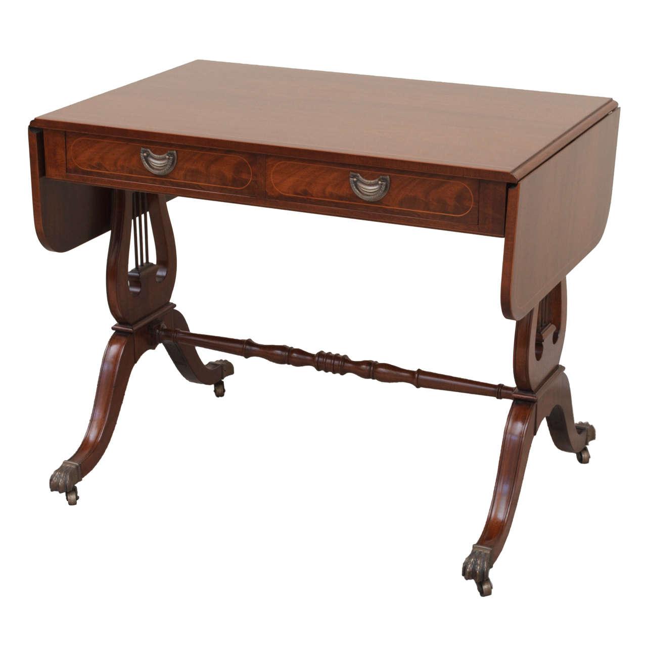 Regency Style Flame Mahogany Sofa Table At 1stdibs