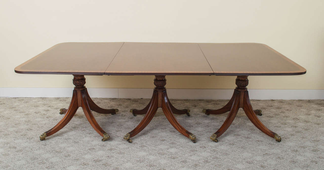 19th Century Regency Triple Pedestal Dining Table image 5