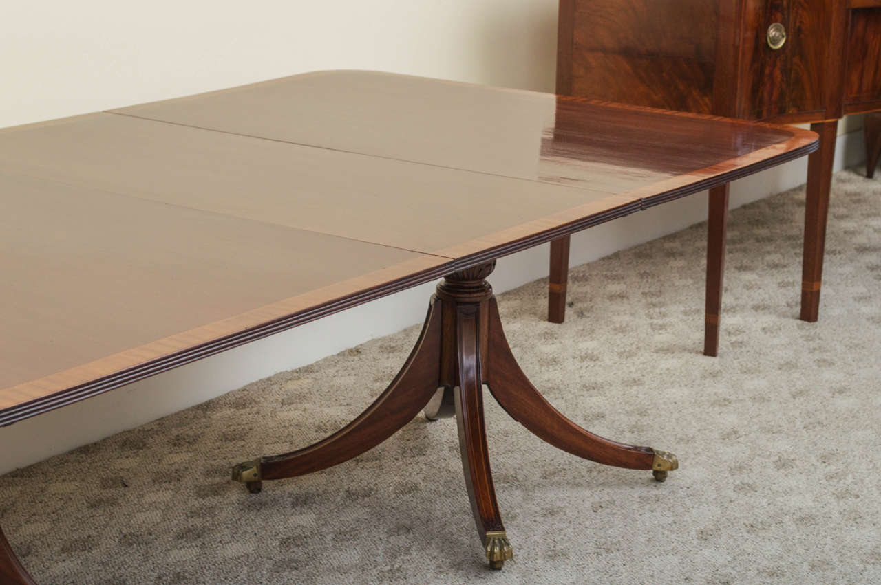 19th Century Regency Triple Pedestal Dining Table image 7