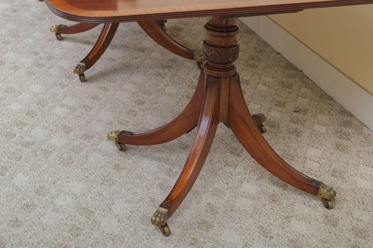 19th Century Regency Triple Pedestal Dining Table image 8