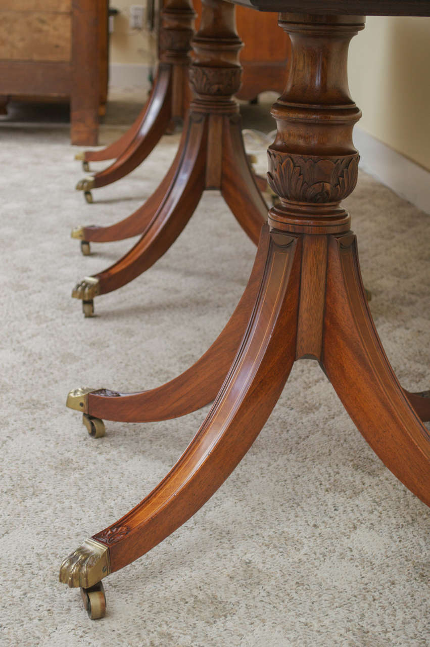 19th Century Regency Triple Pedestal Dining Table image 9