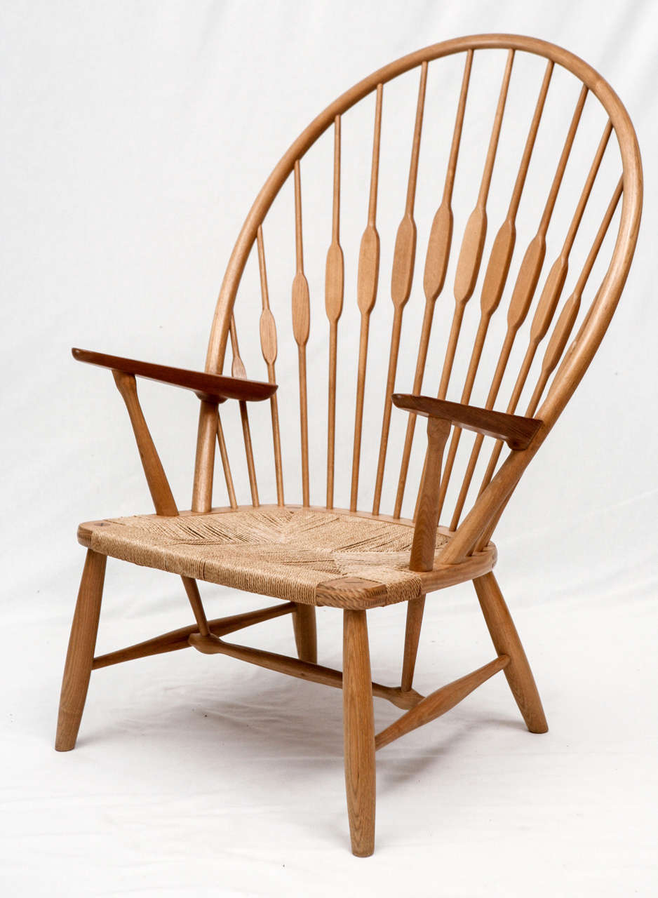 Hans wegner peacock chair designed in 1947 and produced by johannes hansen chair is signed