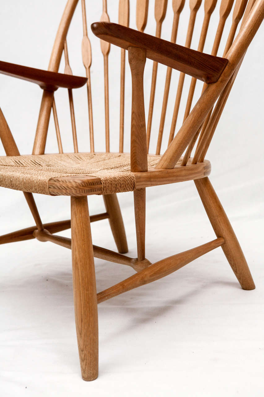 Hans Wegner Peacock Chair In Good Condition For Sale In Los Angeles, CA