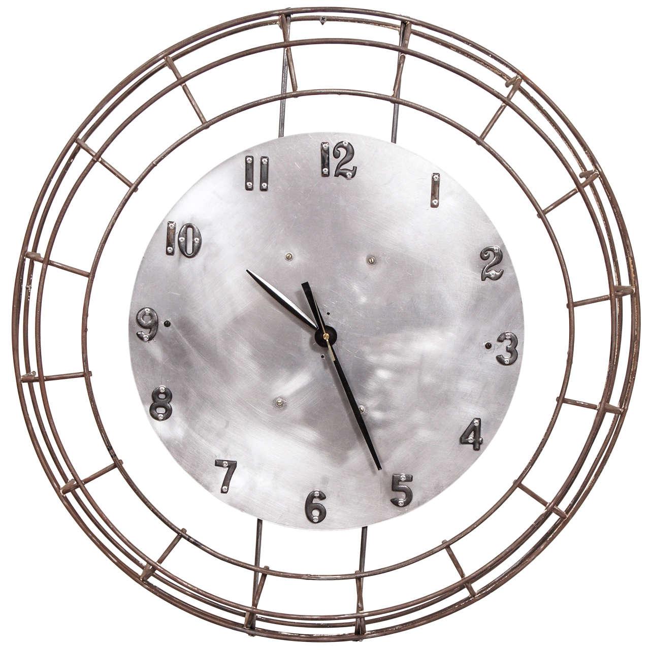 large industrial framed clock at 1stdibs