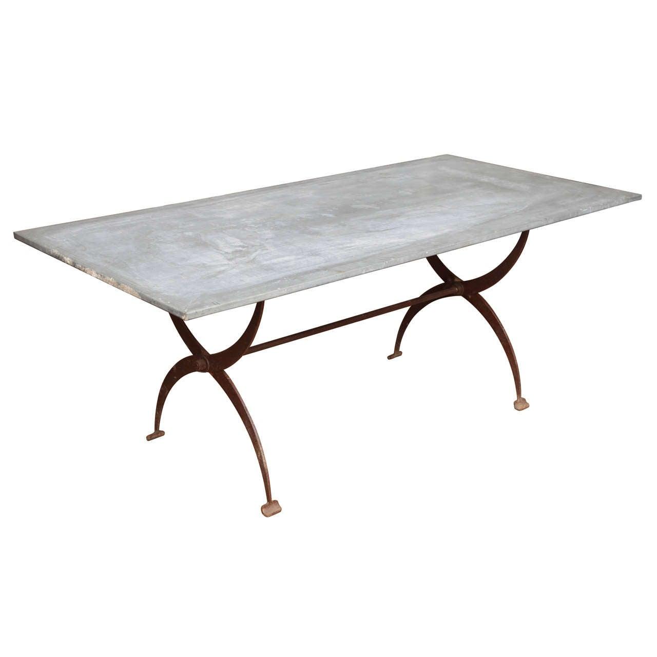 Zinc Top Outdoor Dining Table Abbott