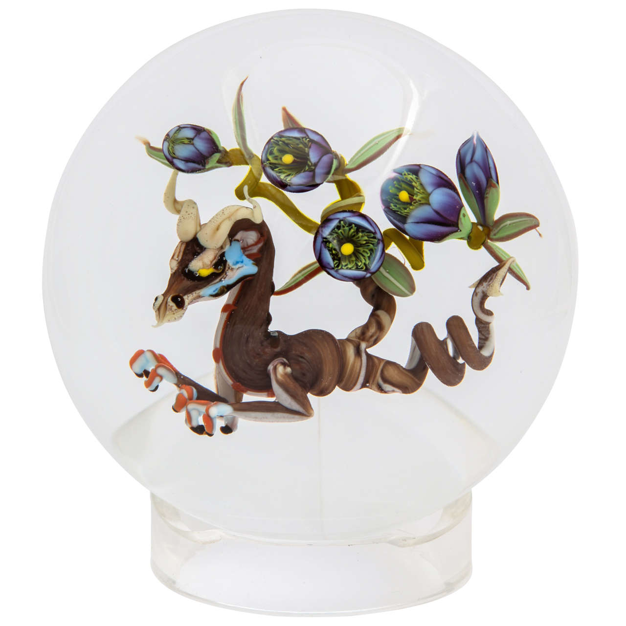Jim D'Onofrio Dragon Root Paperweight