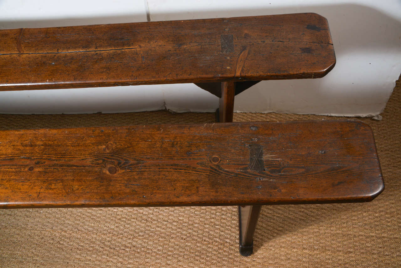 Antique French Wood Bench At 1stdibs