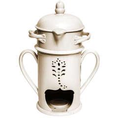 18th Century Creamware Liquid Warmer in the Wedgewood Taste