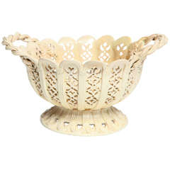 Creamware Two Handle Basket Circa 1800