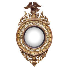 English, William IV, Gilded Convex Mirror
