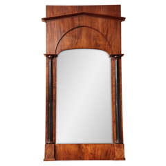 19th Century Walnut, Neo-Classical Mirror