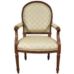 French Upholstered Bergere
