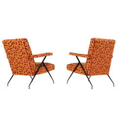 Pair of Italian Reclining Lounge Chairs