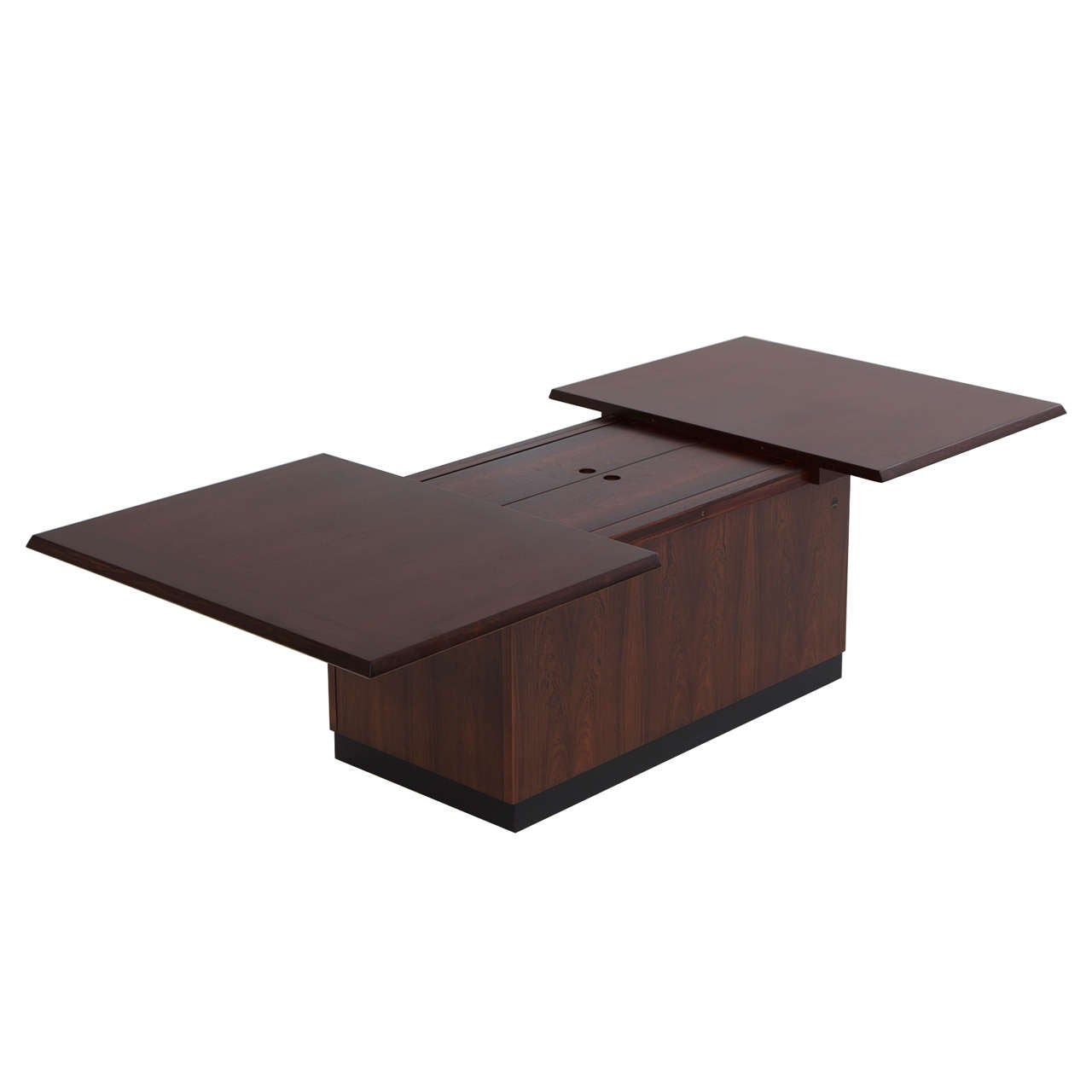 Luxury Danish Rosewood Coffee Table With Dry Bar For Sale At 1stdibs