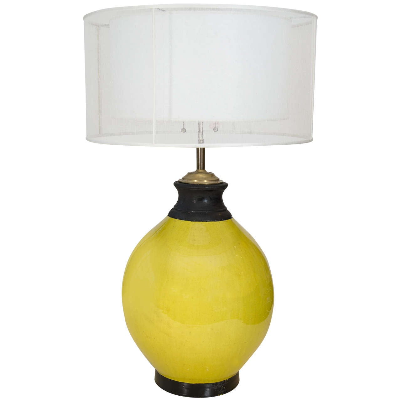 Large Lemon Ceramic Table Lamp At 1stdibs