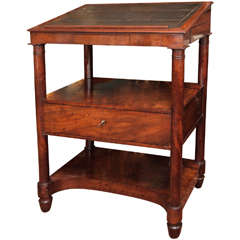 French Empire Period Mahogany Library Stand or Desk