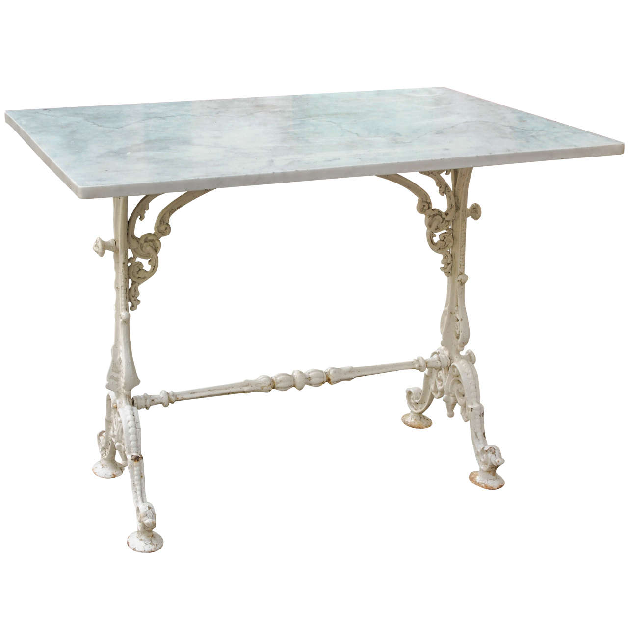 French Napoleon Iii Cast Iron Garden Table