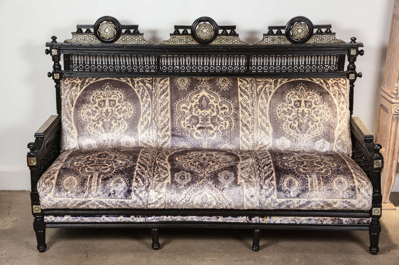 Middle Eastern Syrian Moorish Settee For Sale At 1stdibs