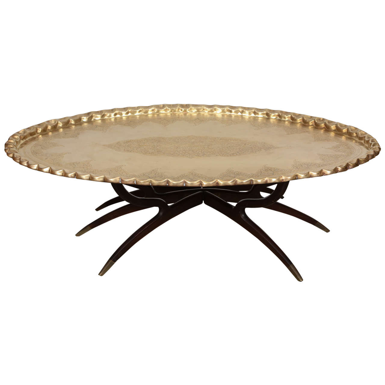 Brass Tray Coffee Table On Spider-Legs At 1stdibs