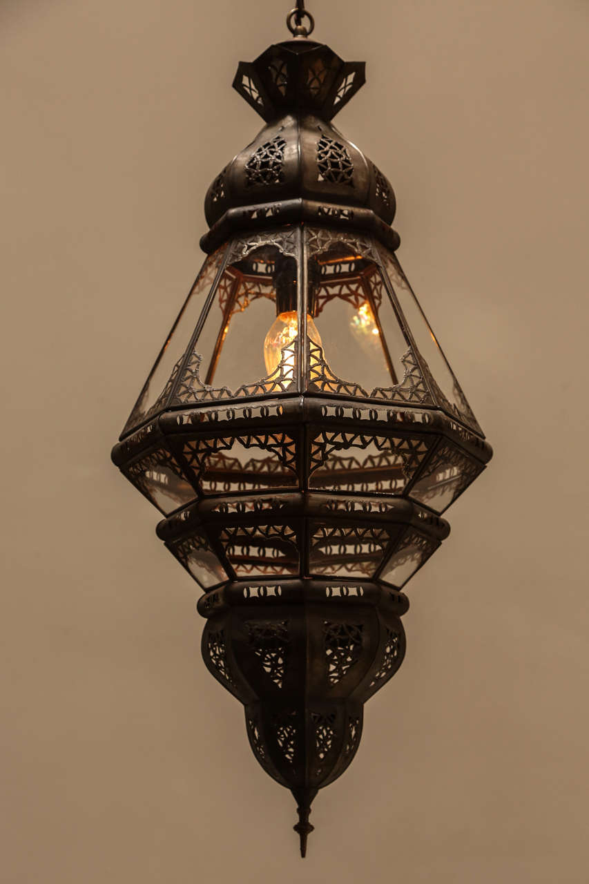 Moroccan Clear Glass Lantern image 2