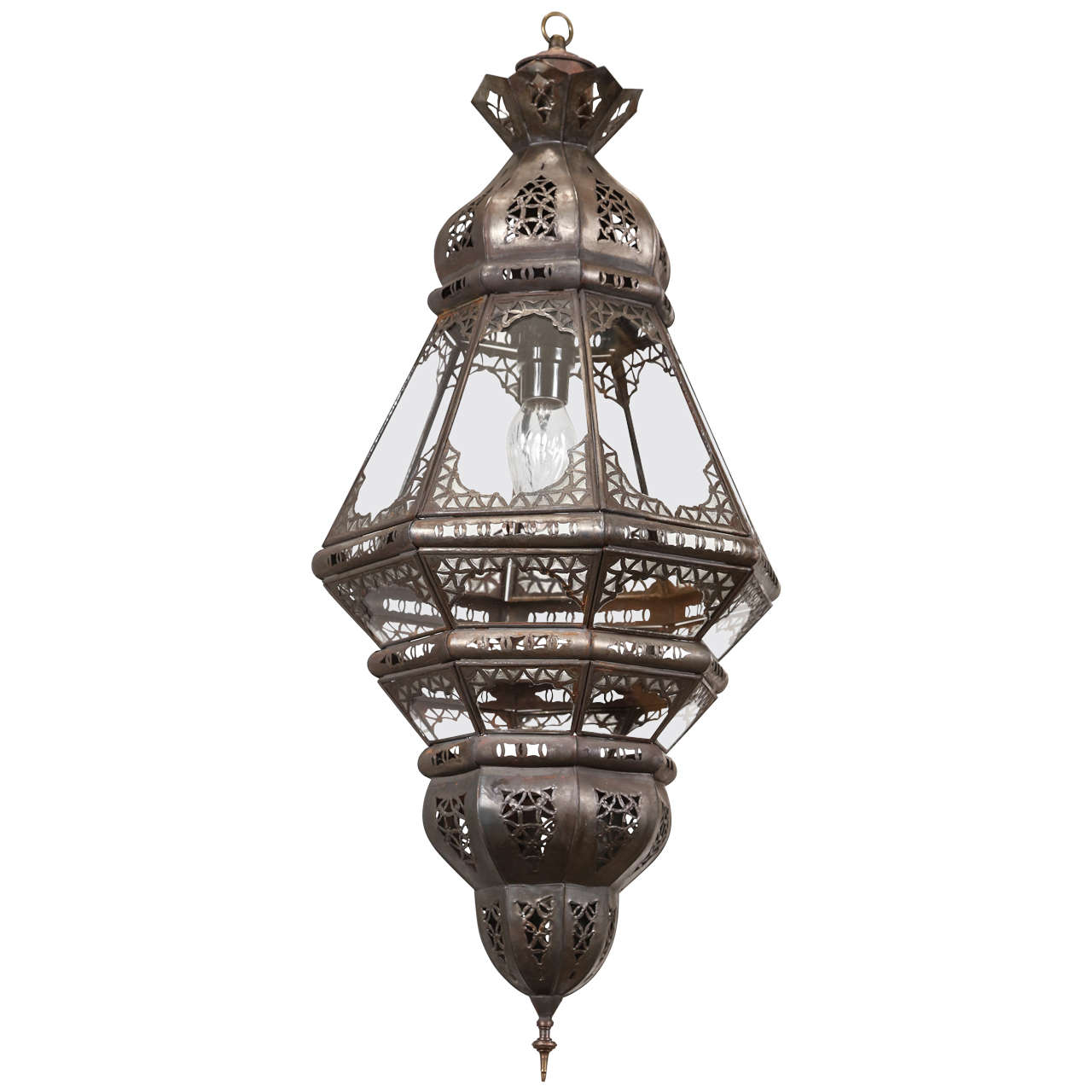 Moroccan Wall Sconces Lighting : Moroccan Clear Glass Lantern at 1stdibs