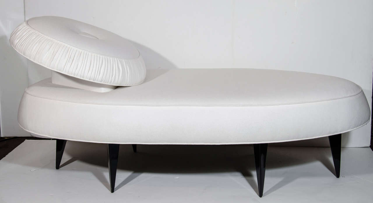 1940 39 s rare modernist french art deco chaise lounge daybed at 1stdibs - Deco lounge oud en modern ...