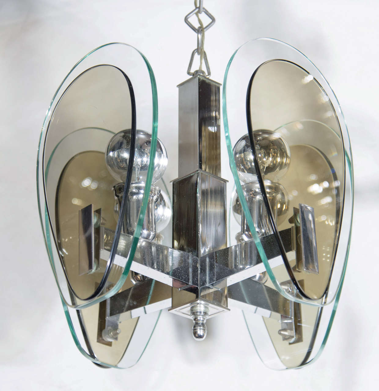 Architectural Mid-Century Modern Pendant Light in the Style of Fontana Arte 3