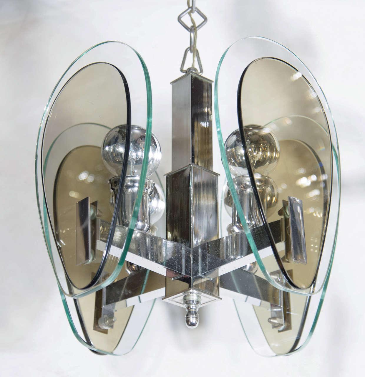 Mid-Century Modern Teardrop Glass Pendant Light 3