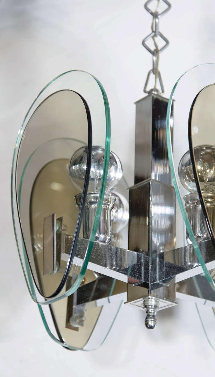 Mid-Century Modern Teardrop Glass Pendant Light 4