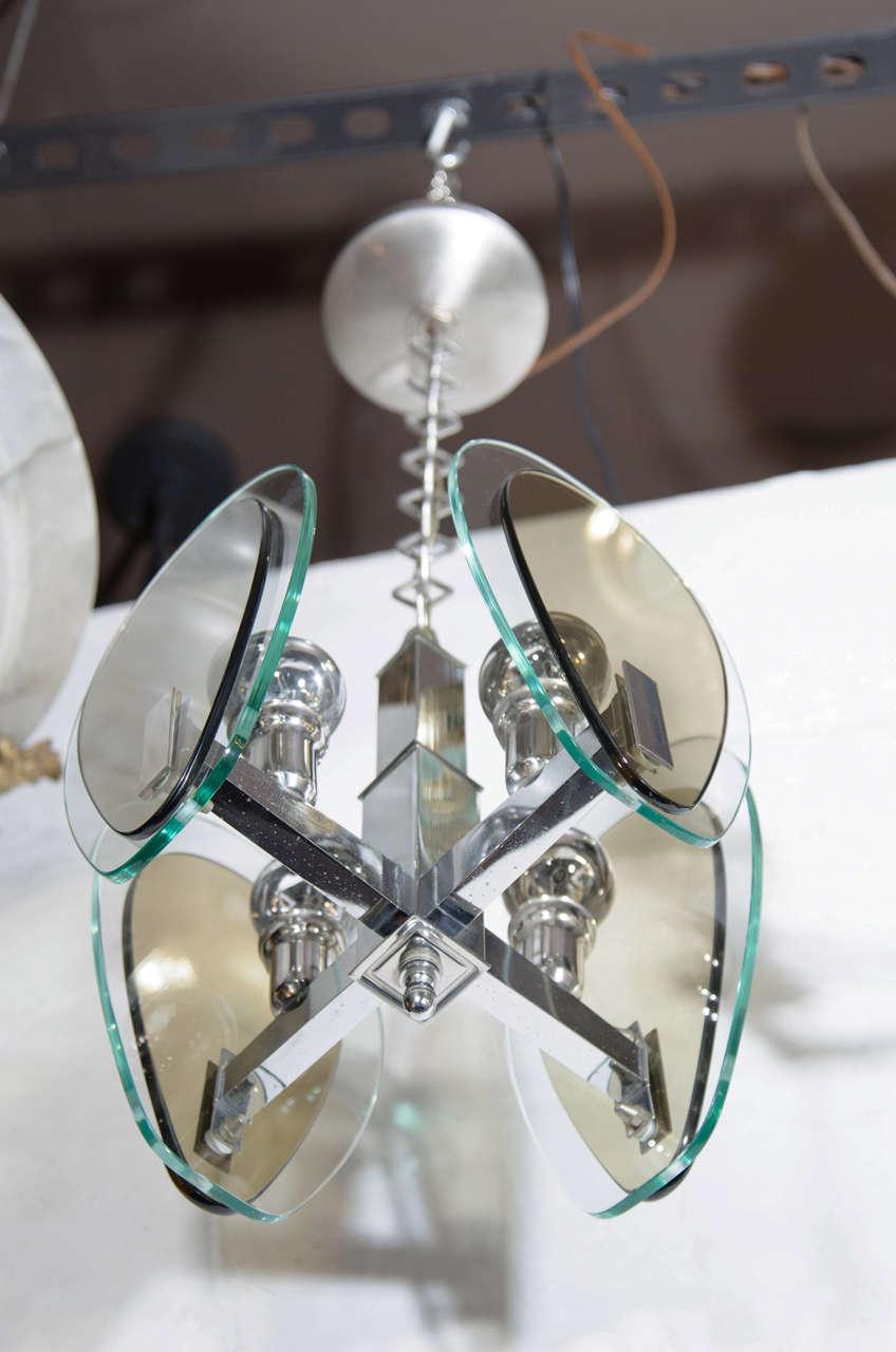 Mid-Century Modern Teardrop Glass Pendant Light 6