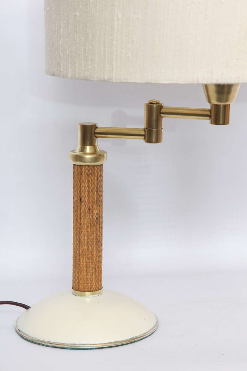 1930s American Modernist Articulated Table Lamp Attributed to Kurt Versen 4