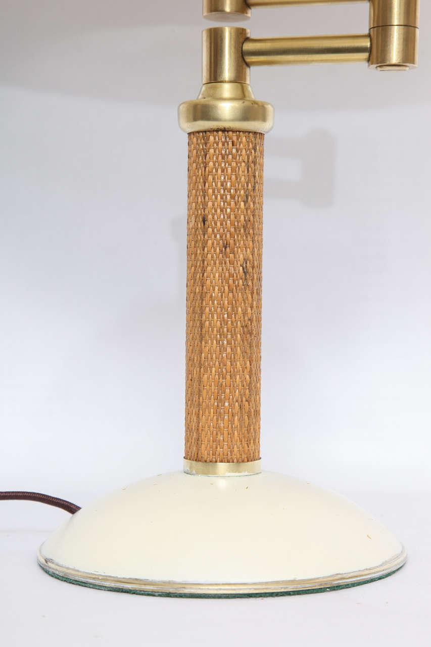 1930s American Modernist Articulated Table Lamp Attributed to Kurt Versen 7