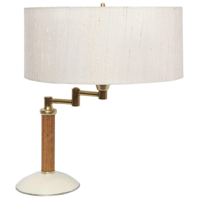 Kurt Versen Table Lamp Articulated American Modernist 1930's For Sale