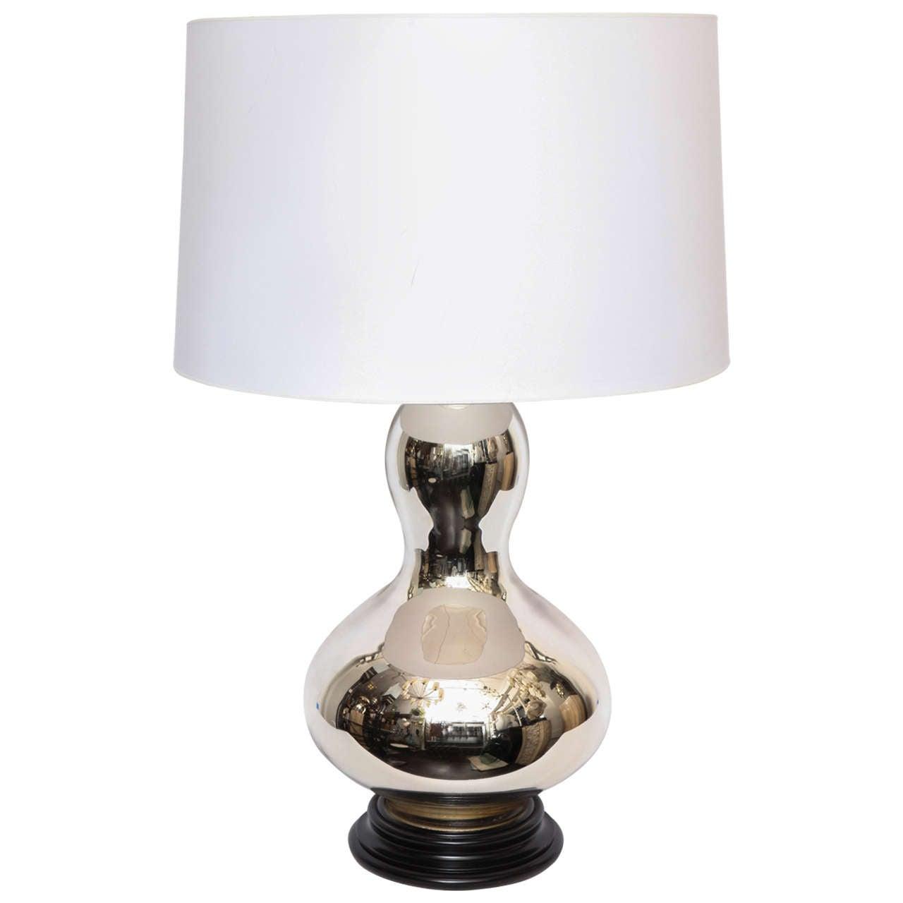 1960s Sculptural Mercury Glass Table Lamp