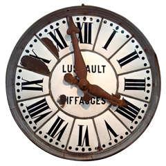 White Face Enamel Clock