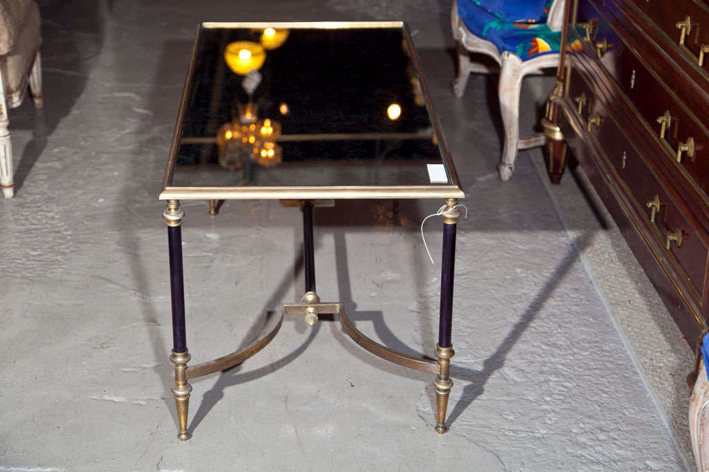 Maison Jansen Bronze Mirror Top Coffee Table image 6