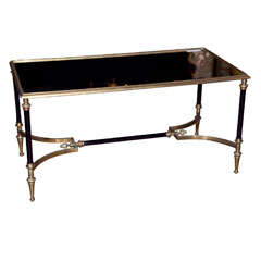 Maison Jansen Bronze Mirror Top Coffee Table thumbnail 1