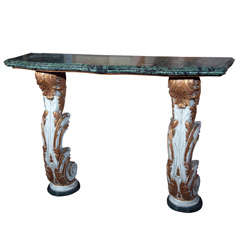 Marble-Top Wall Mount Console by Maison Jansen