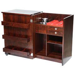 Dyrlund Rosewood Bar Cabinet